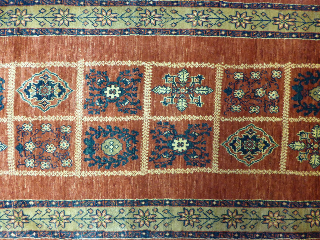 "2'7"" x 9'11""   Persian Kashkuli Runner Rug Back View"