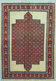 "5'8"" x 8'2""   Persian Kashkuli Rug Top View"