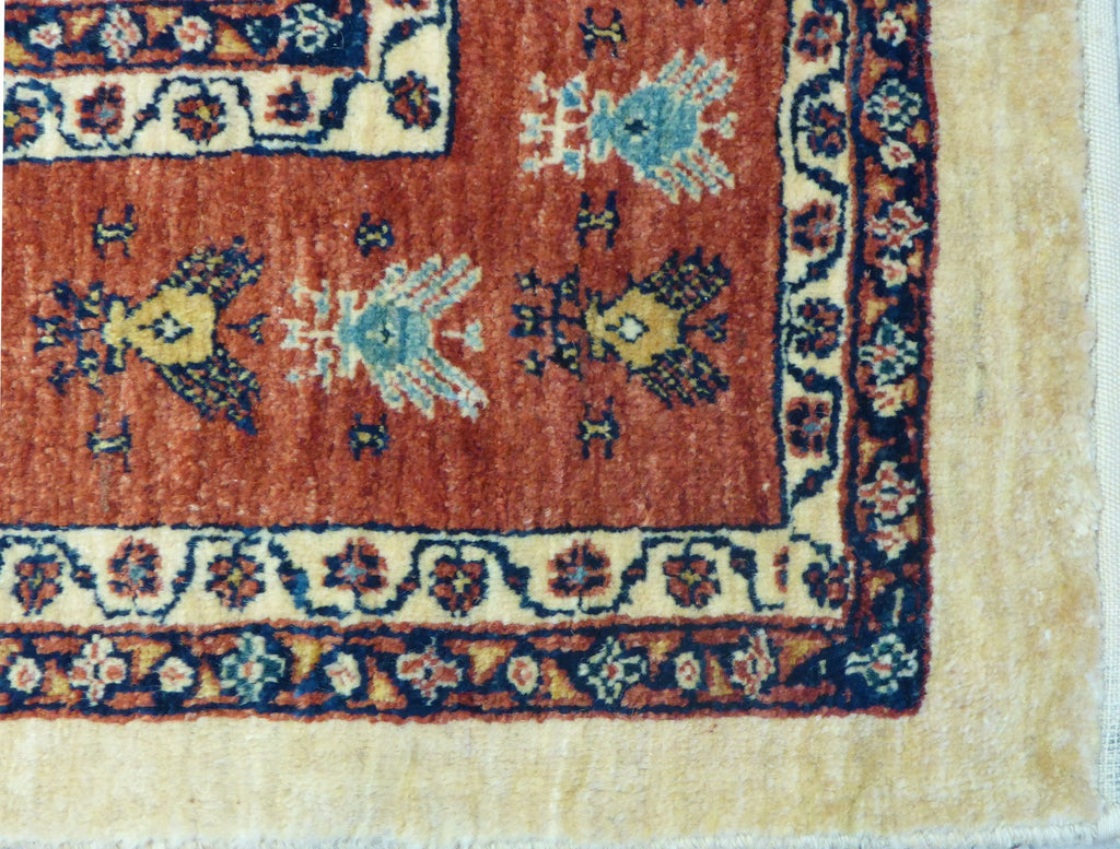 "5'8"" x 8'2""   Persian Kashkuli Rug Back View"