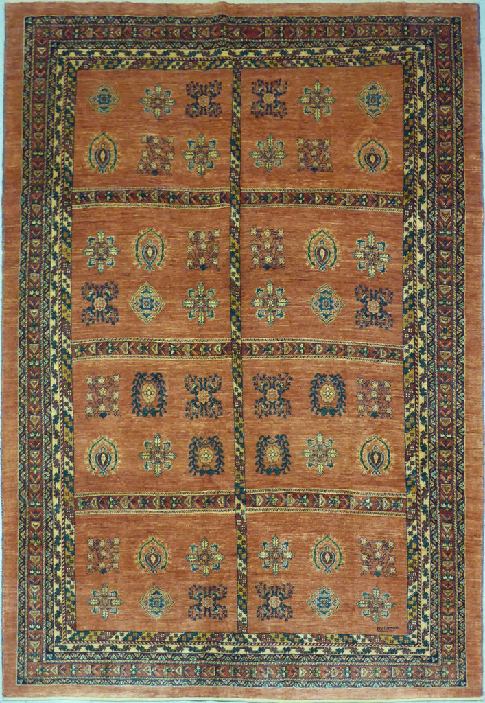 "5'11"" x 8'7""   Persian Kashkuli Rug Top View"