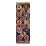 "3'0"" x 9'0""   Antique Kazakh Kazak Kilim Runner Rug Top View"