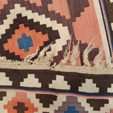 "3'0"" x 9'0""   Antique Kazakh Kazak Kilim Runner Rug Back View"