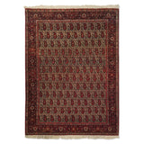 "4'3"" x 5'9""   Antique Persian Sarouk Ferahan Paisley Design Rug Top View"