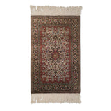 "2'9"" x 4'3""   Silk Persian Qom Rug Top View"