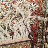 "2'9"" x 4'3""   Silk Persian Qom Rug Angle View"