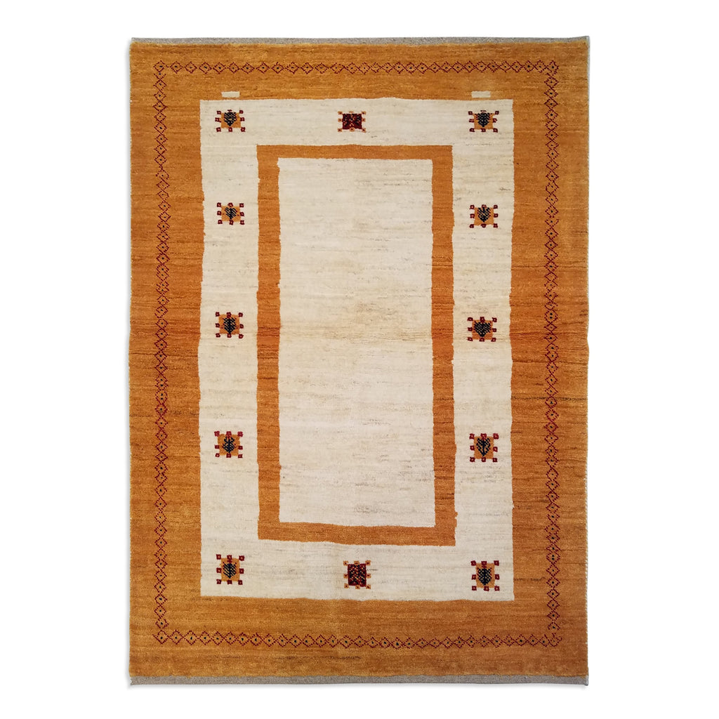 "3'11"" x 5'5""   Persian Gabbeh Rug Top View"