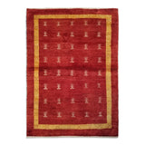 "4'1"" x 5'8""   Persian Gabbeh Rug Top View"