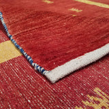 "5'3"" x 6'5""   Persian Gabbeh Rug Back View"