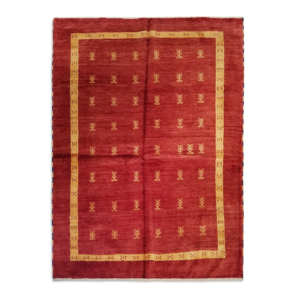 "4'10"" x 6'7""   Persian Gabbeh Rug Top View"