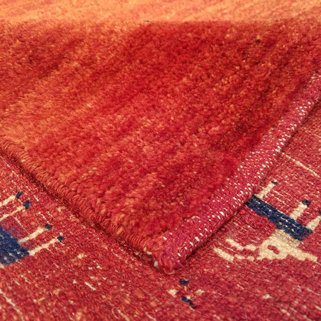 "4'0"" x 5'6""   Persian Gabbeh Rug Back View"
