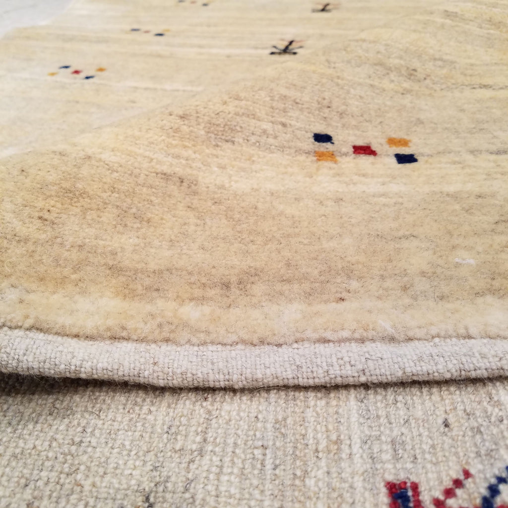 "4'1"" x 5'9""   Persian Gabbeh Rug Back View"