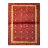 "4'2"" x 5'7""   Persian Gabbeh Rug Top View"