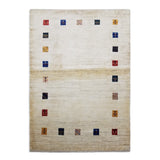 "4'0"" x 5'7""   Persian Gabbeh Rug Top View"