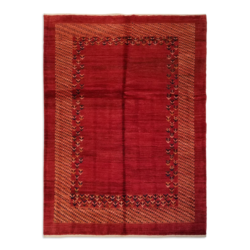 "5'0"" x 6'9""   Persian Gabbeh Rug Top View"