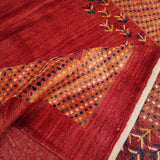 "5'0"" x 6'9""   Persian Gabbeh Rug Back View"