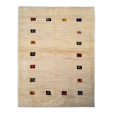 "4'2"" x 5'5""   Persian Gabbeh Rug Top View"