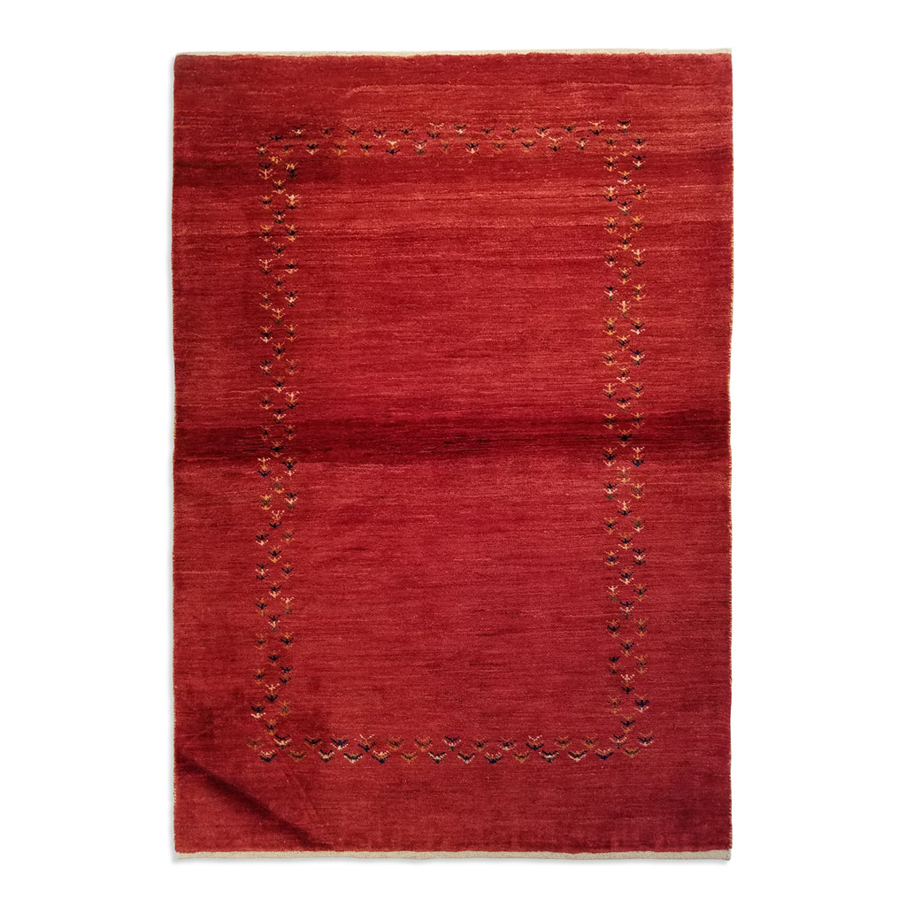 "3'11"" x 5'7""   Persian Gabbeh Rug Top View"