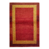 "3'5"" x 4'11""   Persian Gabbeh Rug Top View"