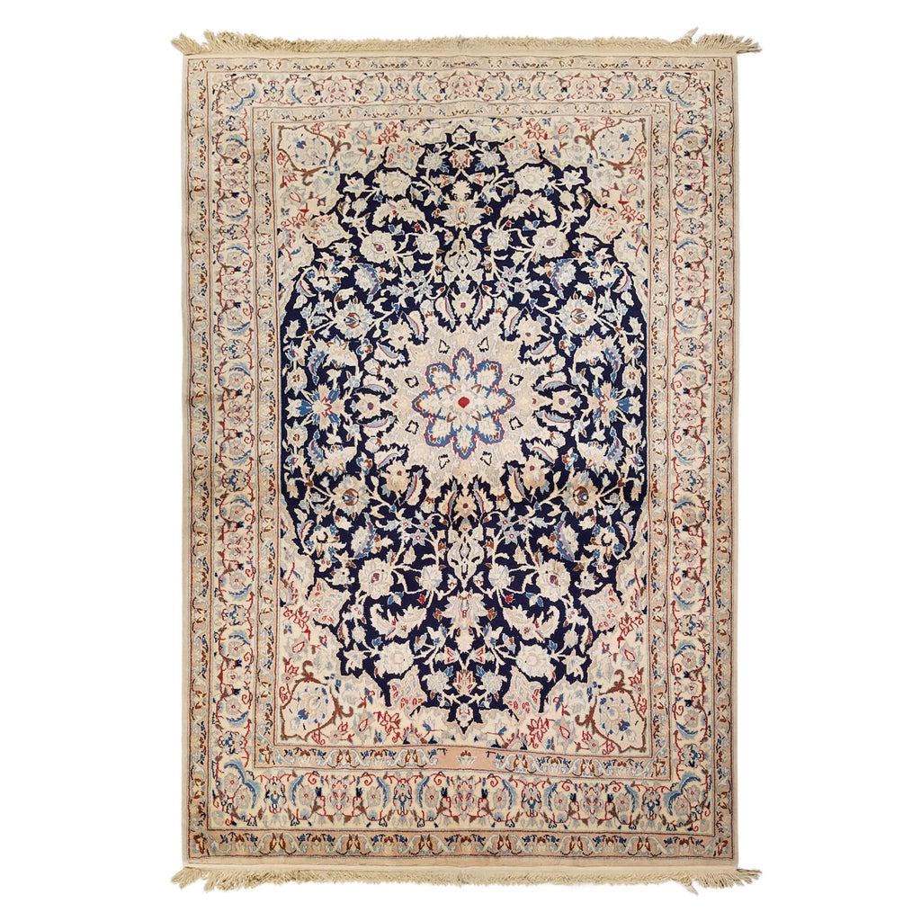 "4'4"" x 6'4""   Persian Nain Nohla Rug Top View"