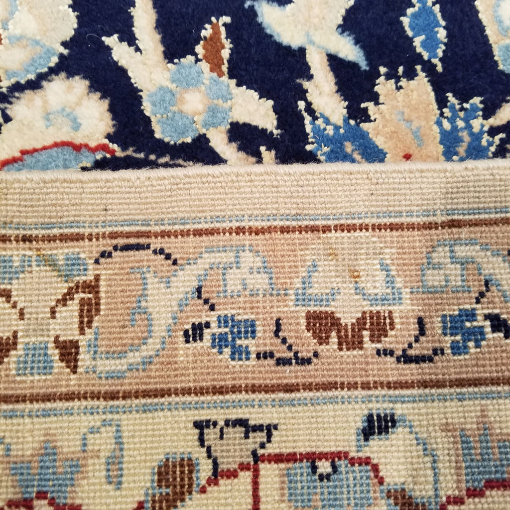 "4'4"" x 6'4""   Persian Nain Nohla Rug Back View"