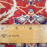 "6'6"" x 10'9""   Persian Isfahan Sarafian Rug Back View"