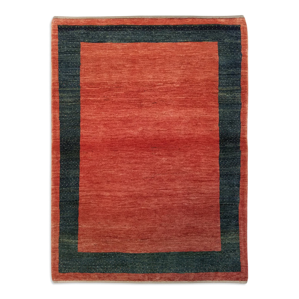 "3'8"" x 4'11""   Persian Gabbeh Rug Top View"