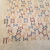 "2'10"" x 9'6""   Persian Gabbeh Runner Rug Angle View"