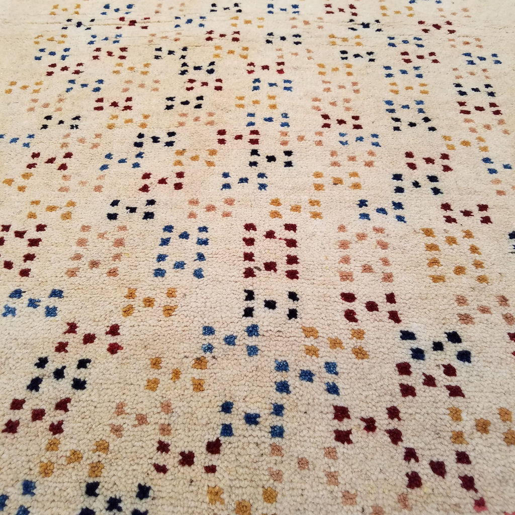 "2'10"" x 9'6""   Persian Gabbeh Runner Rug Back View"