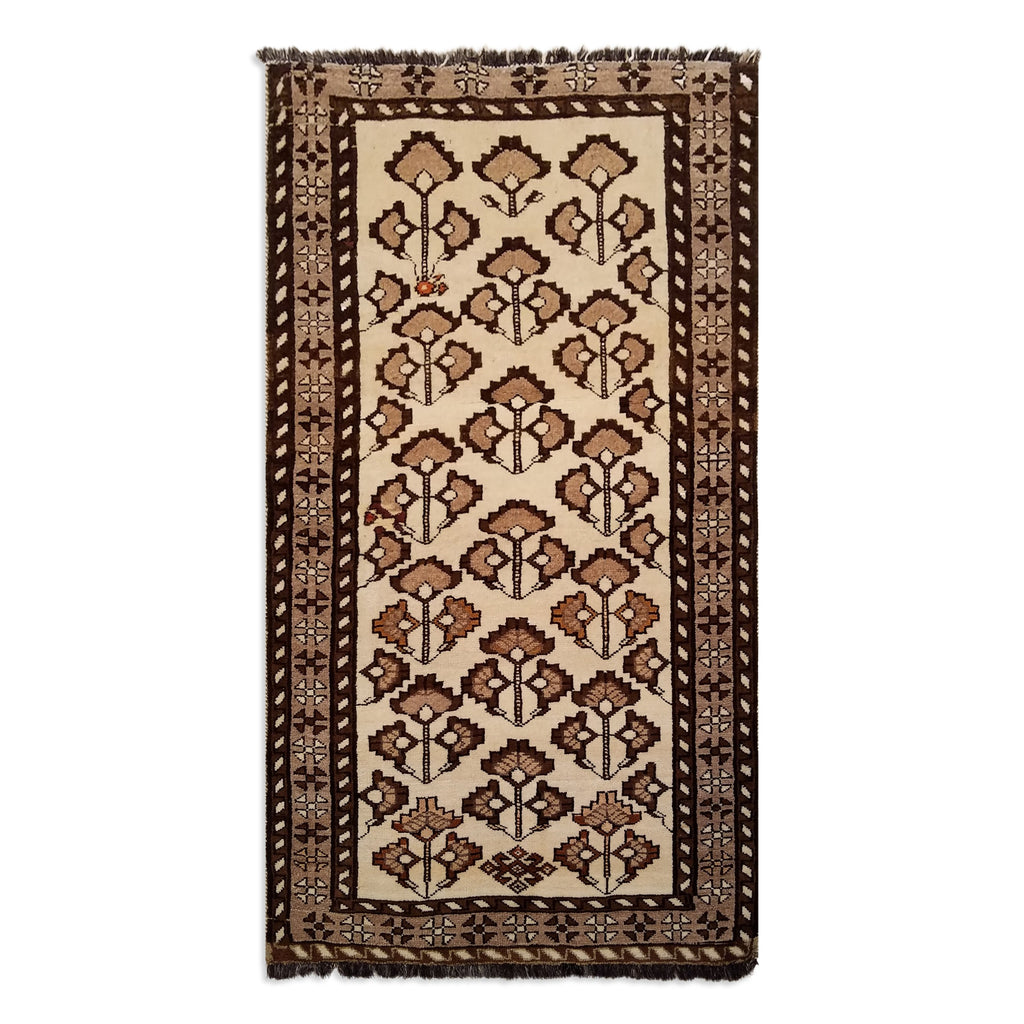 "3'4"" x 6'1""   Persian Gabbeh Rug Top View"