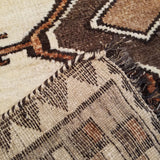 "3'3"" x 7'3""   Persian Gabbeh Rug Back View"