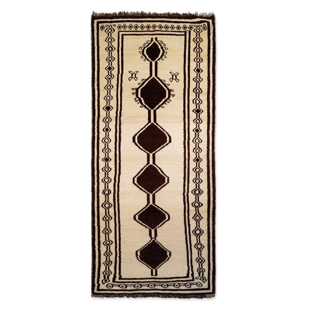 "3'3"" x 7'3""   Persian Gabbeh Rug Top View"