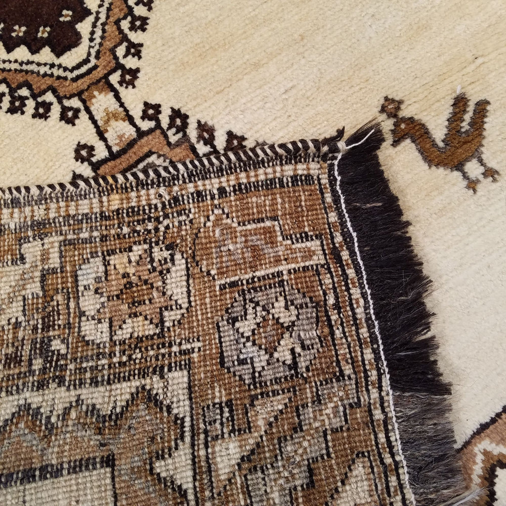 "3'11"" x 6'9""   Persian Gabbeh Rug Back View"