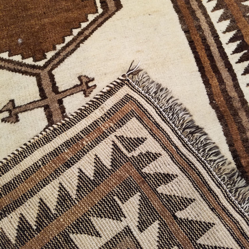"3'8"" x 7'9""   Persian Gabbeh Rug Back View"