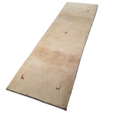 "2'11"" x 9'4""   Persian Gabbeh Runner Rug Angle View"