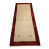 "2'11"" x 7'0""   Persian Gabbeh Runner Rug Angle View"