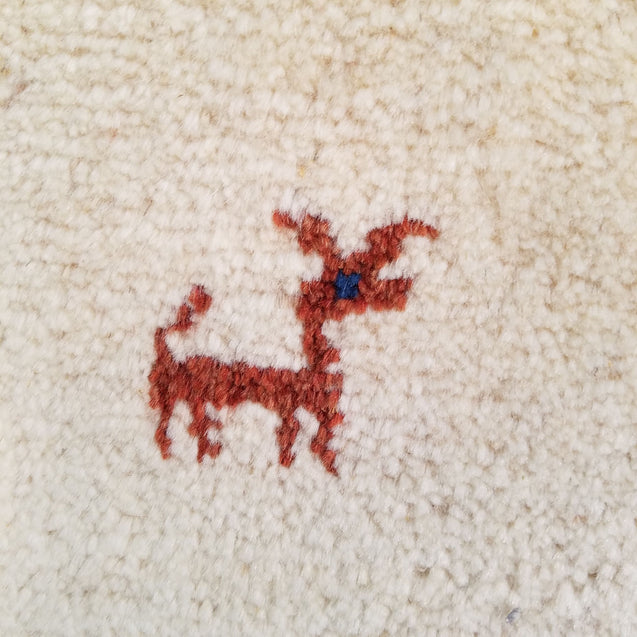 "2'11"" x 7'0""   Persian Gabbeh Runner Rug Back View"