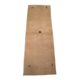 "2'6"" x 7'5""   Persian Gabbeh Runner Rug Angle View"