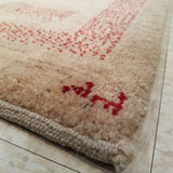 "2'11"" x 7'10""   Persian Gabbeh Runner Rug Angle View"