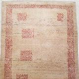 "2'11"" x 7'10""   Persian Gabbeh Runner Rug Back View"