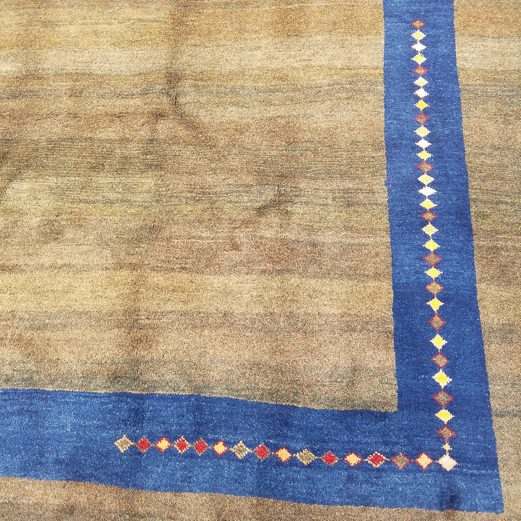 "7'2"" x 10'1""   Persian Gabbeh Rug Back View"