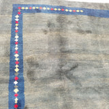 "7'8"" x 11'5""   Persian Gabbeh Rug Back View"