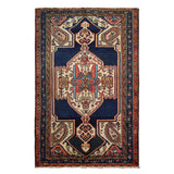 "4'3"" x 6'3""   Antique Persian Malayer Rug Top View"