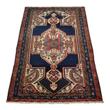 "4'3"" x 6'3""   Antique Persian Malayer Rug Angle View"