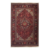 "8'4"" x 12'2""   Persian Heriz Rug Top View"