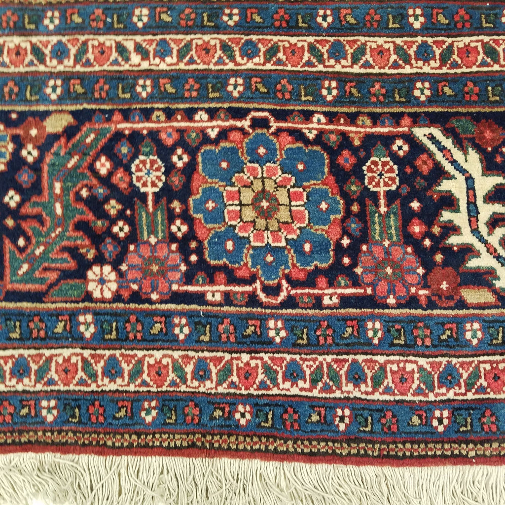 "8'4"" x 12'2""   Persian Heriz Rug Back View"