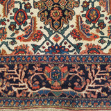 "4'5"" x 6'3""   Antique Persian Bakhtiar Rug Angle View"