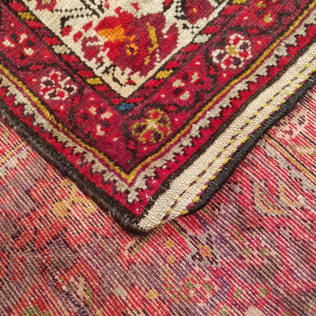 "4'6"" x 6'3""   Persian Malayer Rug Back View"