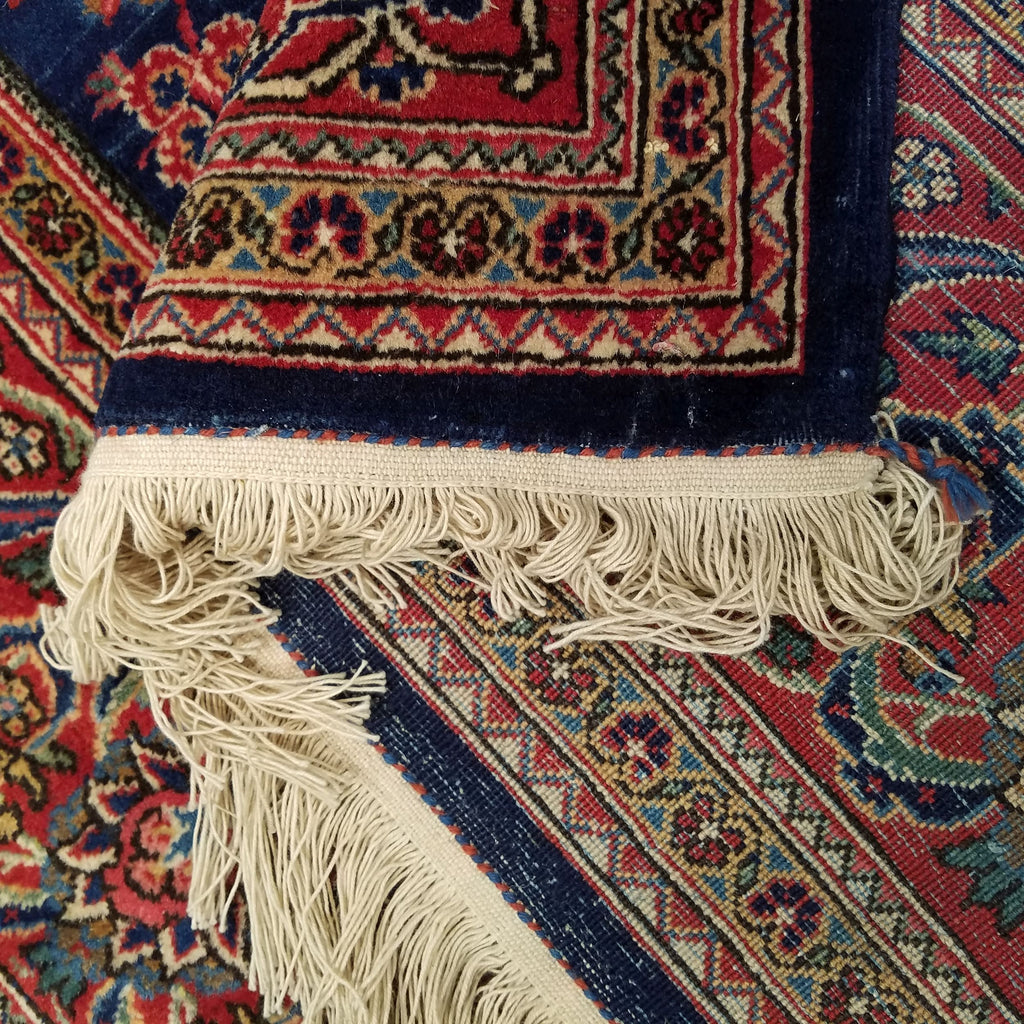 "4'0"" x 6'6""   Persian Keshan Rug Back View"
