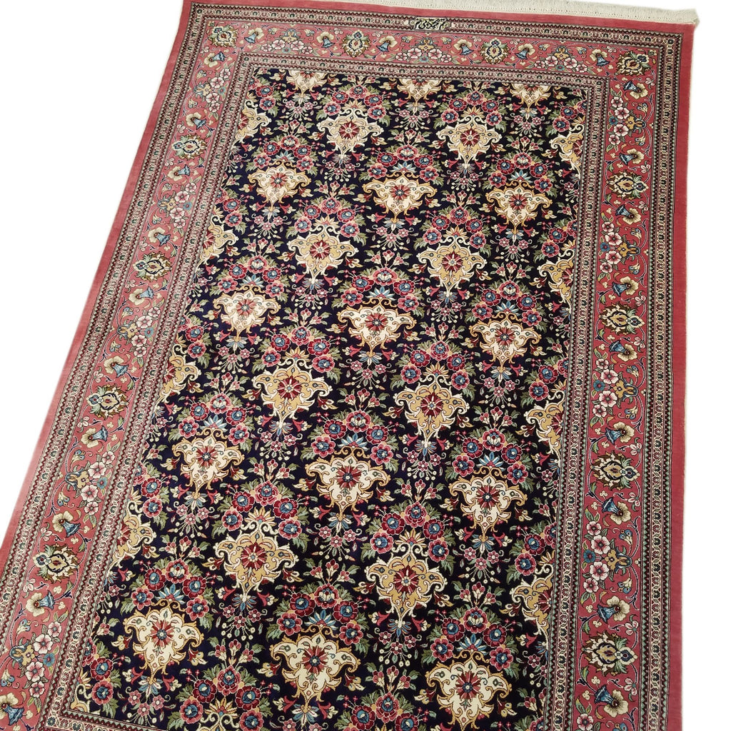 "3'4"" x 5'0""   Silk Persian Qom Rug Angle View"