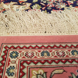 "3'4"" x 5'0""   Silk Persian Qom Rug Back View"